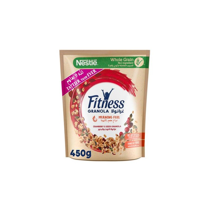 Nestle Fitness Granola Cranberry Cereal Bag 450g