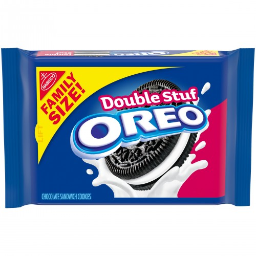 OREO Double Stuf Chocolate Sandwich Cookies, Family Size, 20 oz