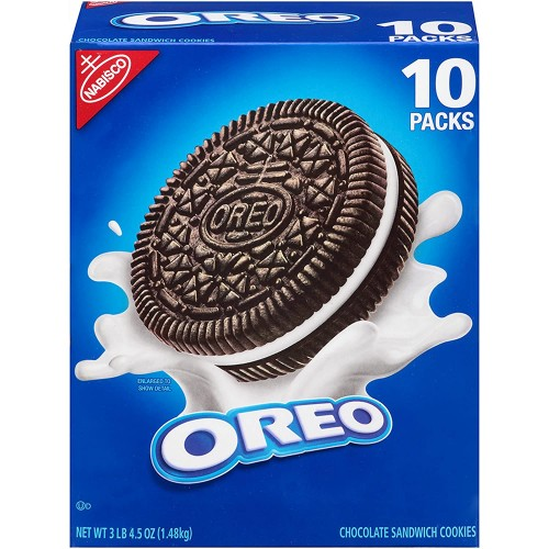 Nabisco Oreo Cookies, 5.25 Oz. - 10-Pk