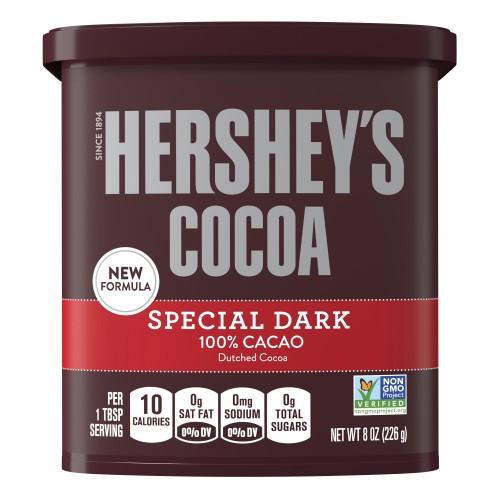 Hershey's Cocoa Powder 100% Cacao, Dark Chocolate, 8 Oz.