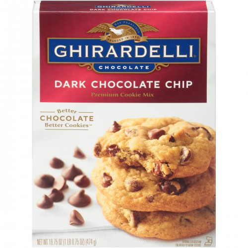 Ghirardelli Chocolate Dark Chocolate Chip Premium Cookie Mix 16.75 oz. Box