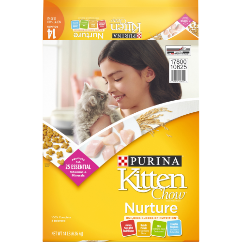 Purina Kitten Chow Dry Kitten Food, Nurture, 14 lb. Bag