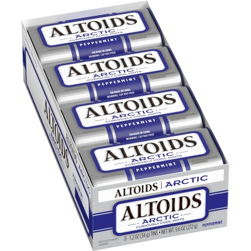Altoids Breath Mints, Artic Peppermint, 1.2 oz Tin (Pack of 8)