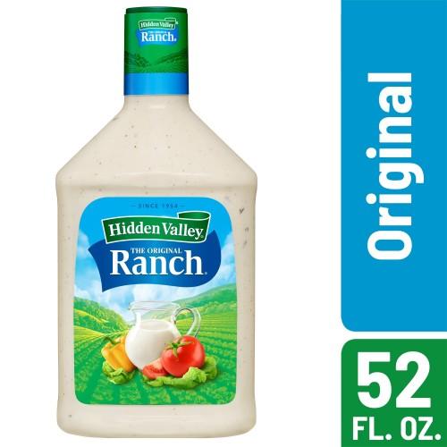 Hidden Valley Original Ranch Salad Dressing & Topping, Gluten Free, Keto-Friendly - 52 Ounce Bottle