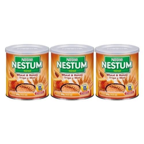 (3 Pack) Nestle Nestum Breakfast Cereal, Wheat & Honey, 10.5 Oz