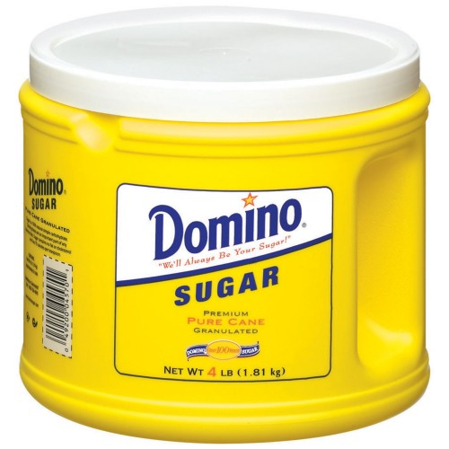 Domino Pure Cane Granulated Sugar, 4 lb x 1 can