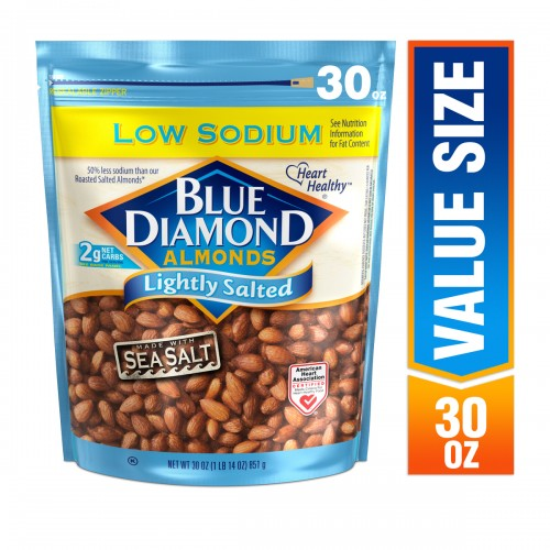 Blue Diamond Almonds Low Sodium Lightly Salted, 30.0 oz x 1 Bag