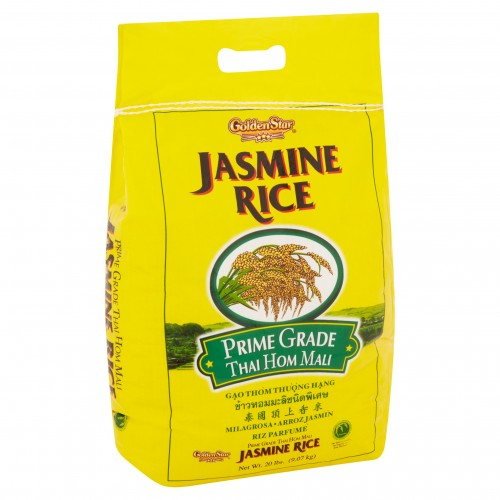 Golden Star Jasmine Rice, 20 lb x 1 bag