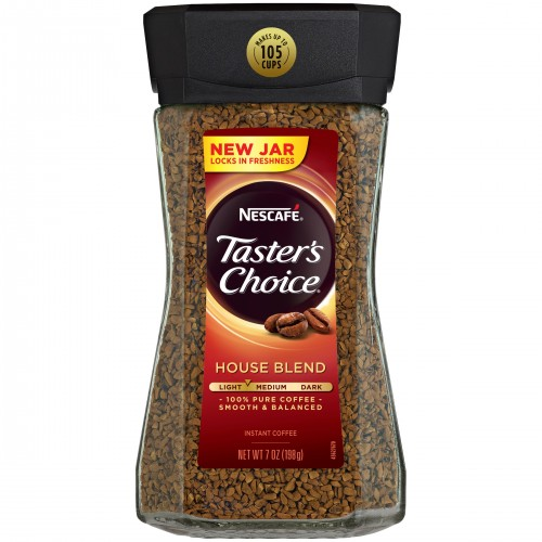 Nescafe Taster's Choice House Blend Medium Light Roast Instant Coffee 7 Oz. x 2 bottles