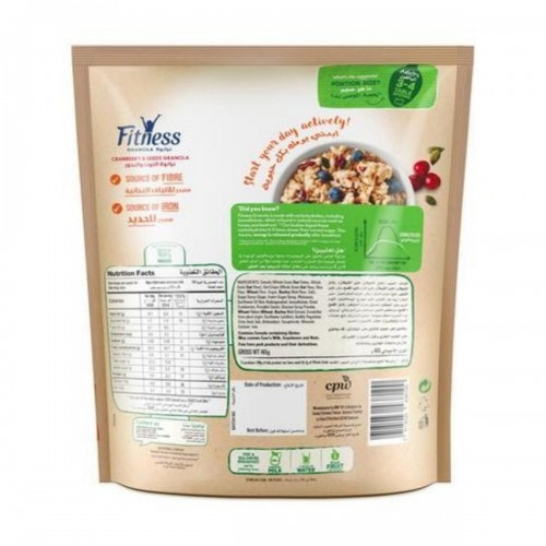 Nestle Fitness Granola Cranberry Cereal 2 x 450g