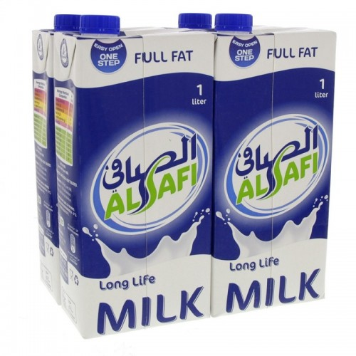 Al Safi Long Life Milk Full Fat 4Box x 1Ltr