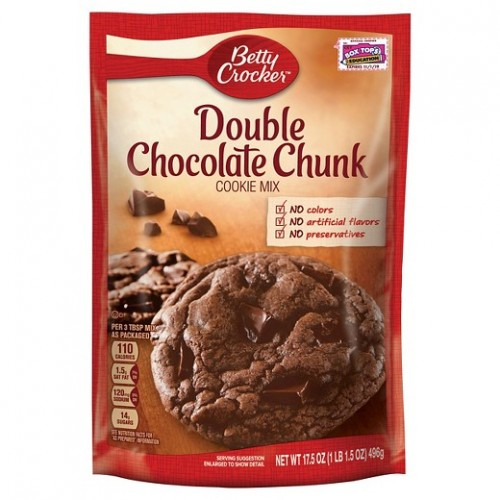 Betty Crocker Double Chocolate Chip Cookie Mix 496g x 1 Pack