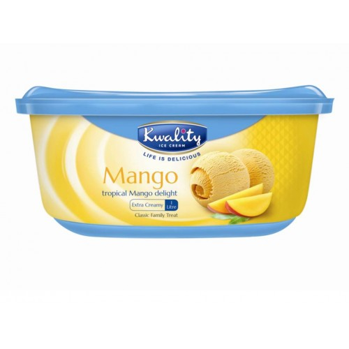 Kwality Mango Ice Cream 1 Litre x 1 Pack
