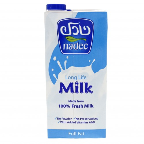 Nadec Long Life Full Fat Milk 1 Ltr x 1 Pack