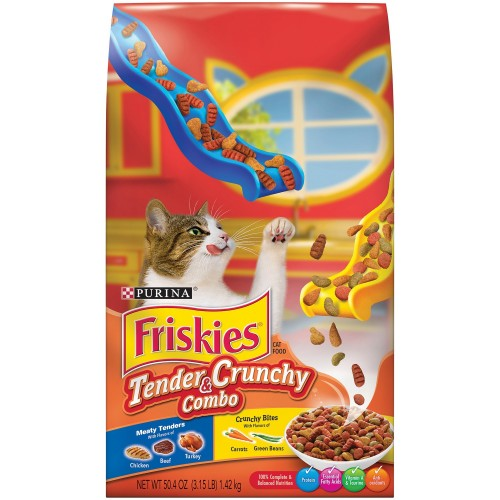 Purina Friskies Tender & Crunchy Combo Cat Food 1.42 Kg x 1 Bag