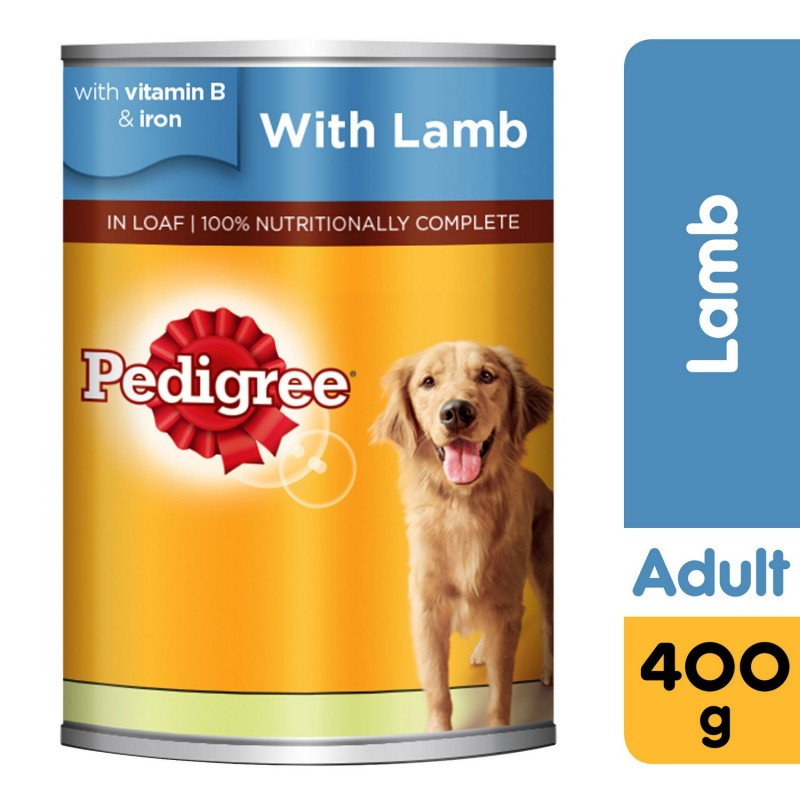 Pedigree Lamb Wet Dog Food Can 400g x 1 Can