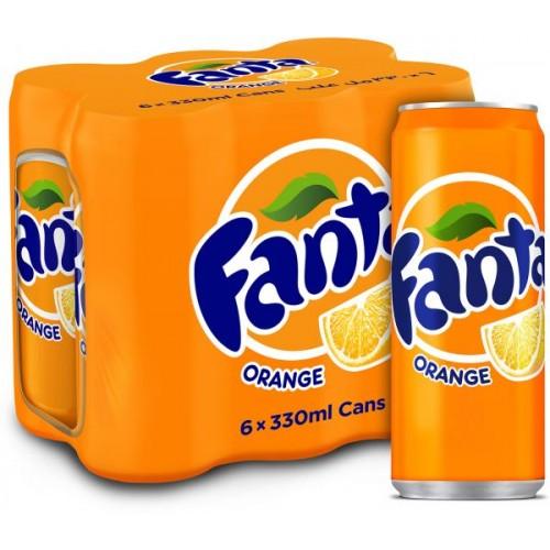 Fanta Orange 330ml x 6 pcs