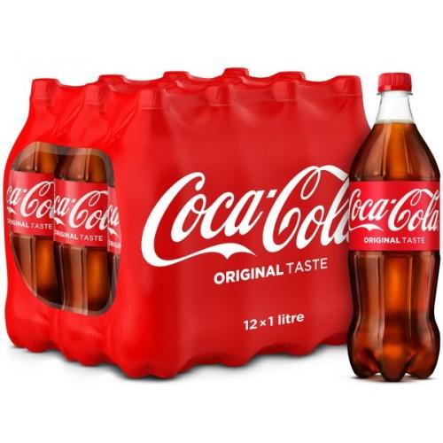 Coca-Cola Regular 1 Litre x 12 pcs
