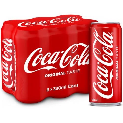 Coca-Cola Regular 330ml x 6 pcs