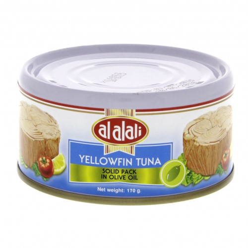 Al Alali Yellowfin Tuna Solid Pack In Olive Oil 170g x 1 pc