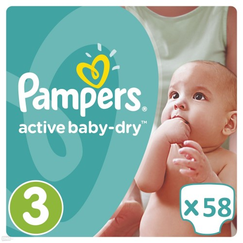 Pampers Baby-Dry Pants 174 Diapers=52 Diapers x 3 Pack