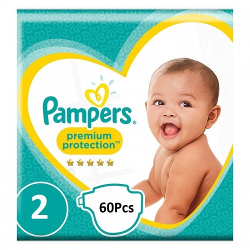 A1. Pampers Jumbo Pack 3-6Kg  Size 2-60Pcs