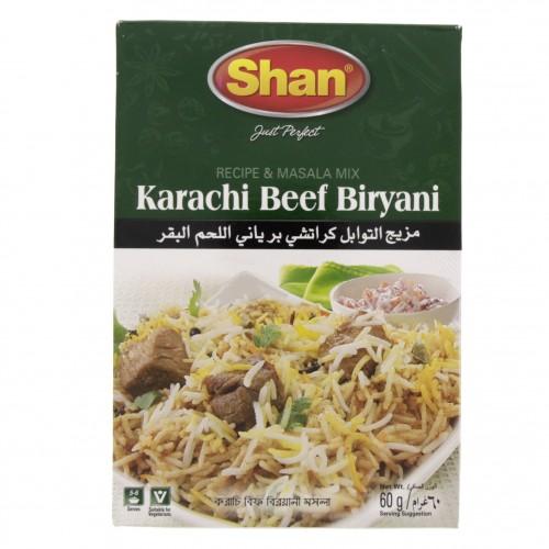 Shan Karachi Beef Biriyani Masala 60g x 1 pc