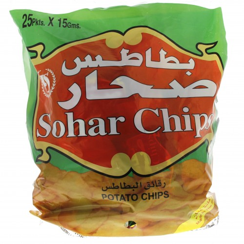 Sohar Potato Chips 25 Pkts x 15g x 1 bag