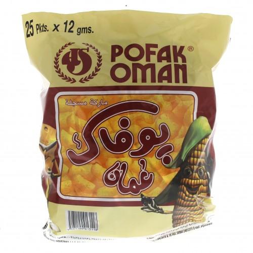 Oman Pofak Chips 25 Pkts x 12g x 1 bag