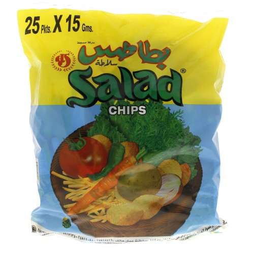 Oman Salad Chips 25 Pkts x 15g x 1 bag