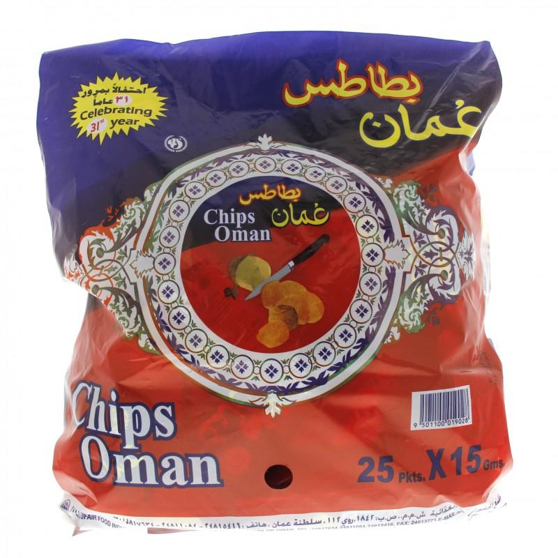 Oman Chips 25 Pkts x 15g x 1 bag