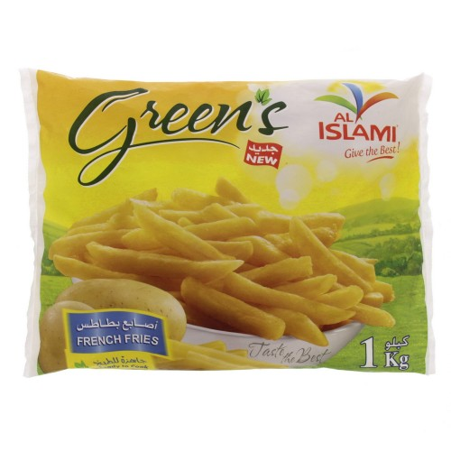 Al Islami Greens French Fries 1 kg x 1 bag