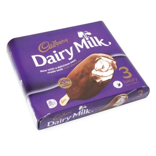 Cadbury Dairy Milk Luxury Chocolate Ice Cream Bar 100ml x 3pcs