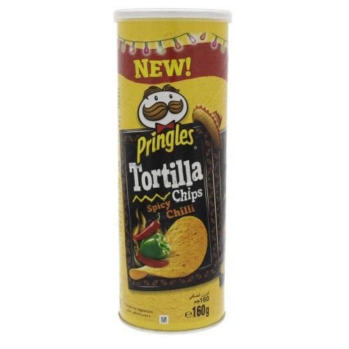 Pringles Tortilla Chips Spicy Chilli 160g x 1 pc