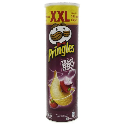 Pringles Texas BBQ Sauce Flavoured Chips XXL 200g x 1 pc