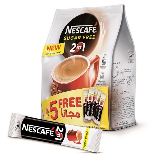 Nescafe 2in1 Sugar Free Coffee 11.7g x 30pcs