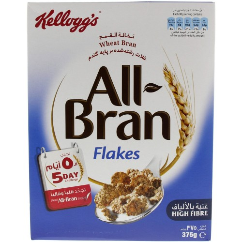Kellogg's All Bran Flakes Cereal 375g x 1pc