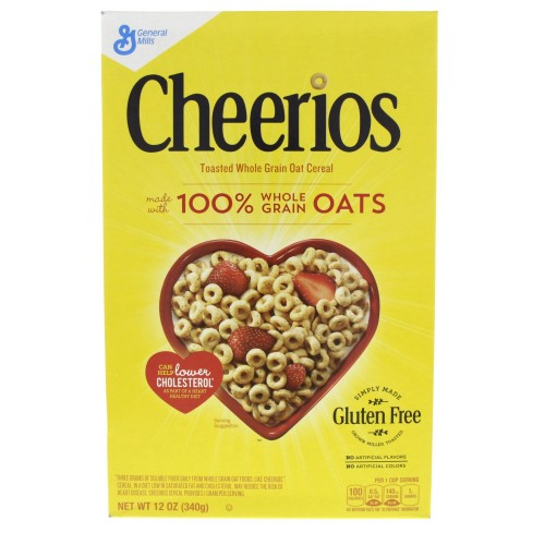 General Mills Cheerios Toasted Whole Grain Oat Cereal 340g x 1pc