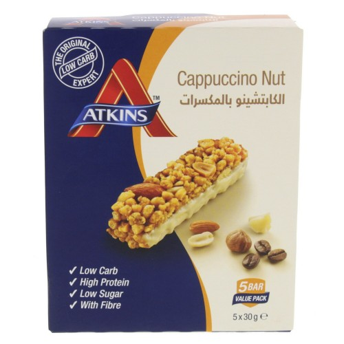 Atkins Cappuccino Nut Bar 30g x 5pcs