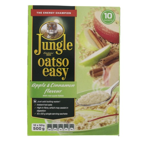 Jungle Oatso Easy Apple And Cinnamon Flavour With Real Apple Flakes 500g x 1pc