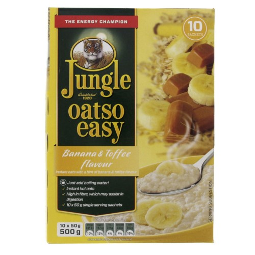 Jungle Oatso Easy Bannana And Toffee Flavour Instant Oats 500g x 1pc