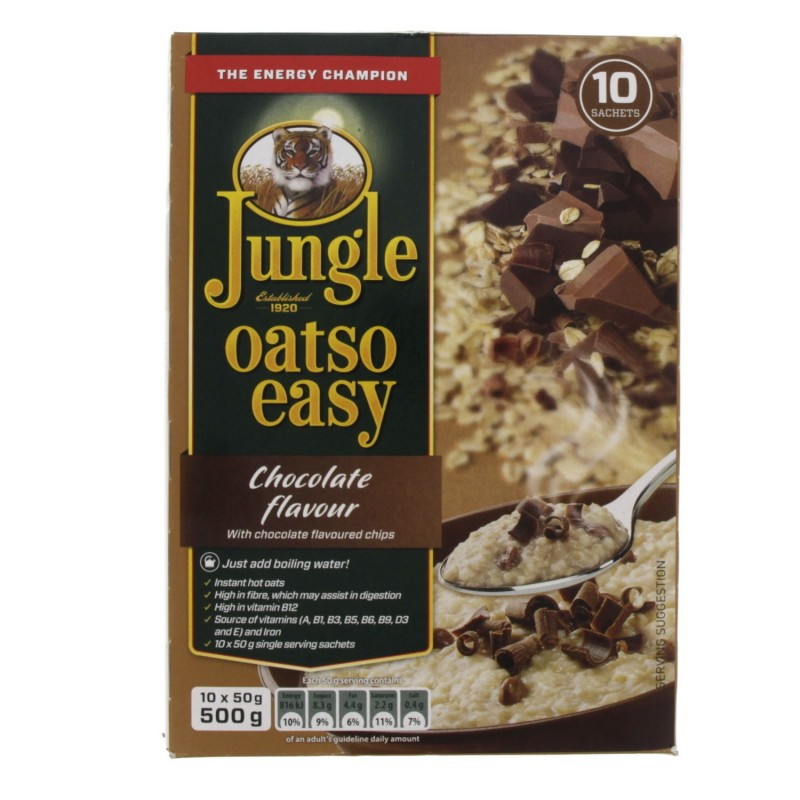 Jungle Oatso Easy Chocolate Flavour With Chocolate Flavoured Chips 500g x 1pc