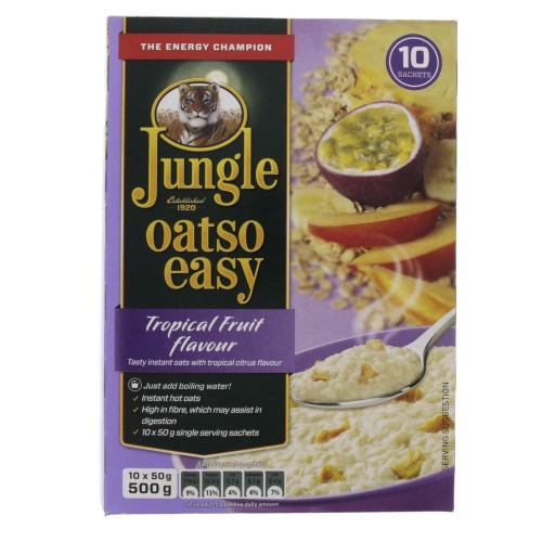 Jungle Oatso Easy Tropical Fruit Flavour Instant Oats 500g x 1pc