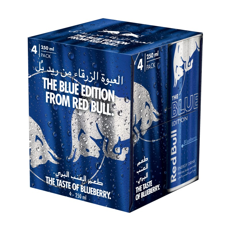 Red Bull Energy Drink Blue 250ml x 4pcs