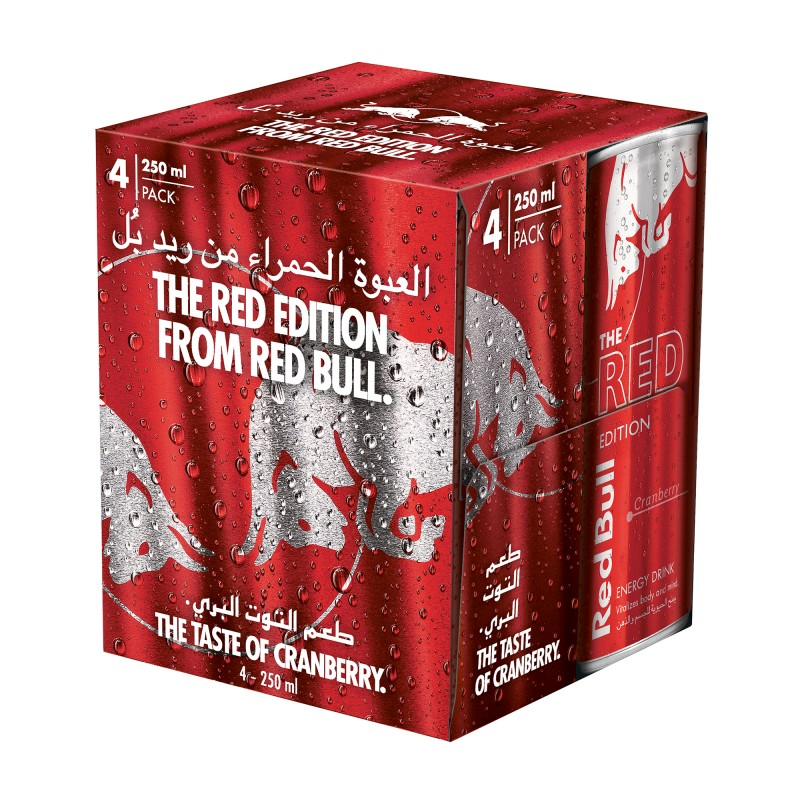 Red Bull Energy Drink Red 250ml x 4pcs