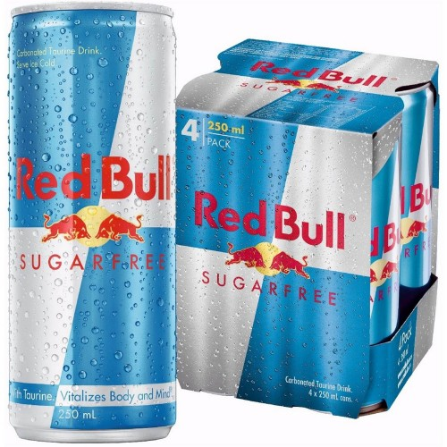 Red Bull Energy Drink Sugar-Free 250ml x 4pcs