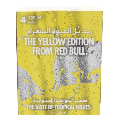 Redbull Energy Drink Tropical Yellow Edition 250ml x 4pcs