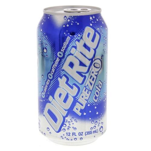 Splenda Diet Rite Pure Zero Cola 355ml x 1pc