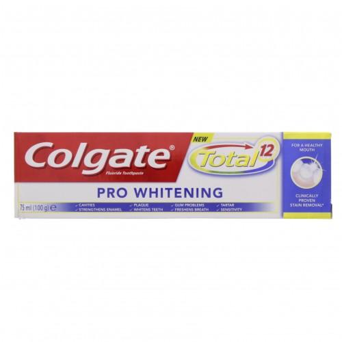Colgate Toothpaste Total 12 Pro Whitening 75ml x 1 pc