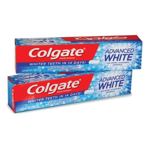 Colgate Toothpaste Advanced Whitening 125ml x 2pcs